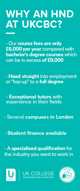 Why an HND at UKCBC?